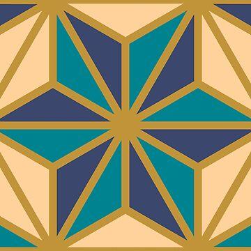 Geometric Pattern: Art Deco Star: Dream by redwolfoz