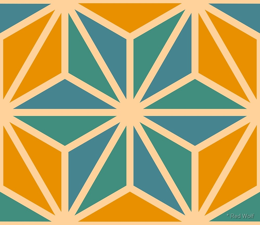 Geometric Pattern: Art Deco Star: Lily by * Red Wolf