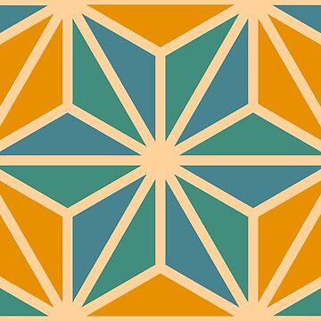 Geometric Pattern: Art Deco Star: Lily by redwolfoz