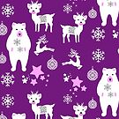 Festive Christmas Holiday Season Pattern by Artification