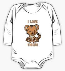 I Love Tigers One Piece - Long Sleeve