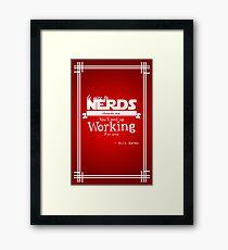 Nerds Framed Print
