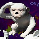 Oh Shit! Confused Monkey by lyndseyart