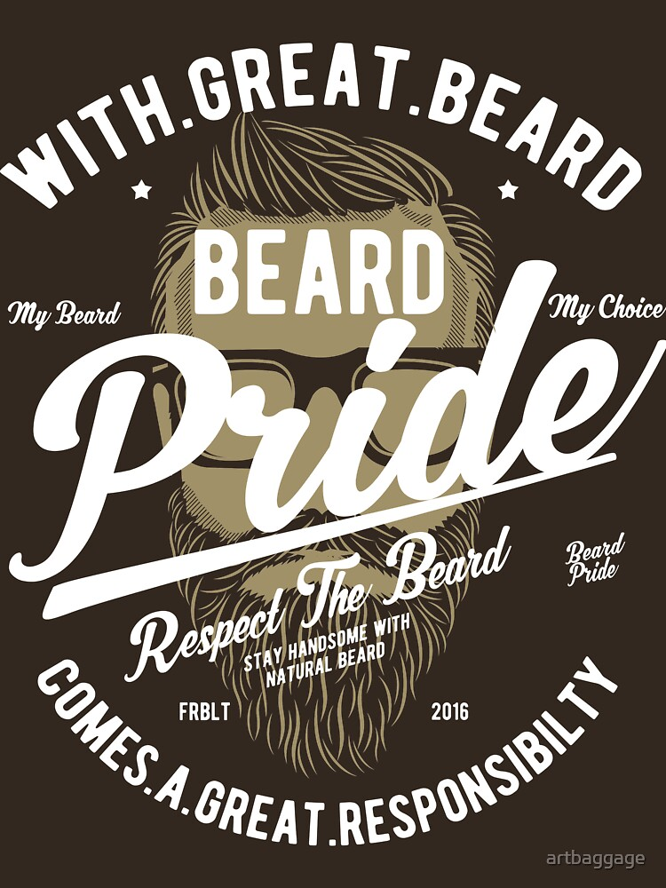 Beard Pride Vintage T-shirt by artbaggage