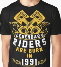 Legendary Riders Are Born In 1991 Graphic T-Shirt