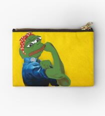 Pepe The Frog Yes we can do it! WW2 Propaganda poster vintage Ad Westinghouse Electric Kekistan's Rare Pepe PepeTheFrog Feminism female woman Studio Pouch