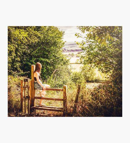 Summer-haze landscape Photographic Print