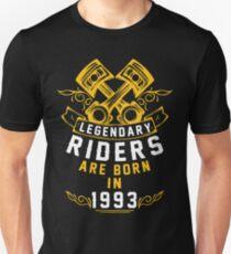 Legendary Riders Are Born In 1993 Unisex T-Shirt