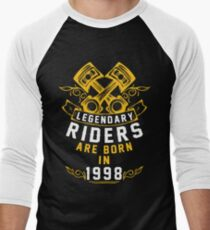 Legendary Riders Are Born In 1998 Men's Baseball ¾ T-Shirt