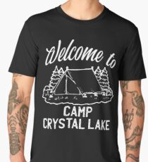 Welcome to Camp Crystal Lake Friday the 13th Jason Men's Premium T-Shirt