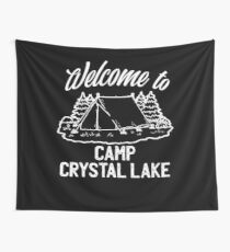 Welcome to Camp Crystal Lake Friday the 13th Jason Wall Tapestry