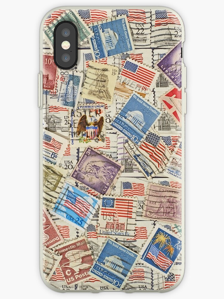 different usa postage stamps background iphone cases covers by