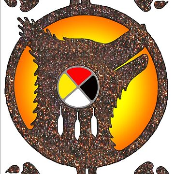 Wolf Clan Medicine Wheel by Nativeexpress