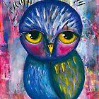 Happy Birthday Owl card by lenaliluna