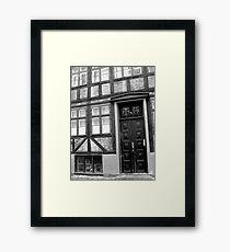 Geometric Facade Framed Print