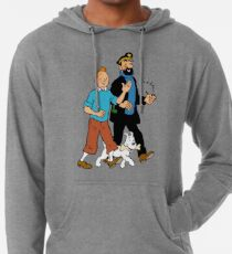 Tintin and Captain Haddock Leichter Hoodie