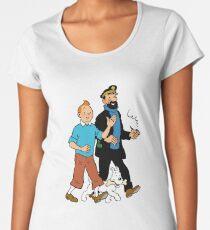 Tintin and Captain Haddock Women's Premium T-Shirt