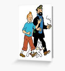 Tintin and Captain Haddock Greeting Card