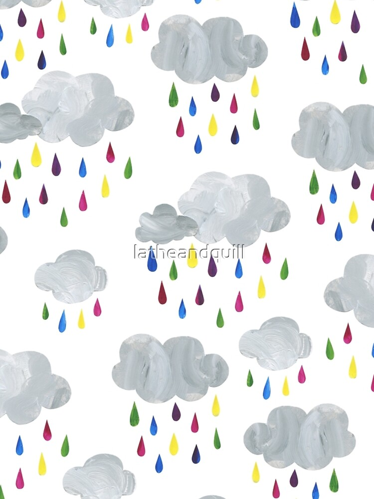 Rainbow Rain Clouds by latheandquill