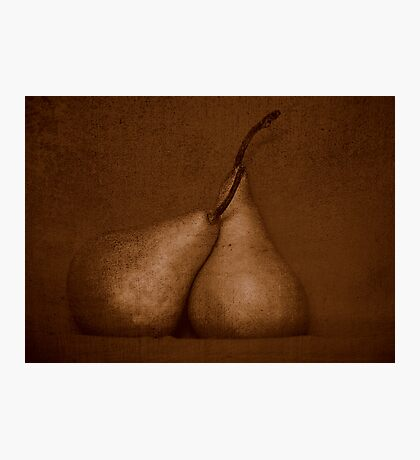 Pears in Sepia Photographic Print