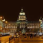 National Museum Of Prague At Night by Susan Dost
