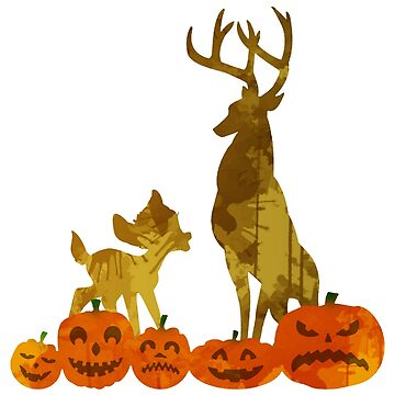 Deer and Pumpkins Inspired Silhouette by InspiredShadows
