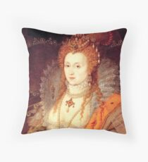 Elizabeth I Portrait Throw Pillow