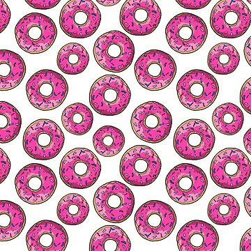 Pink Donuts Rainbow Sprinkles by notsniwart
