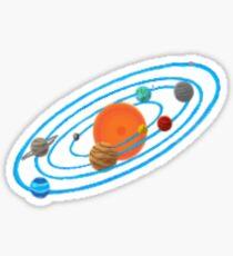 Pixel Planet Solar System Sticker