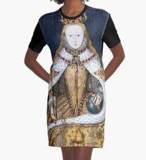 Elizabeth I Coronation Portrait Graphic T-Shirt Dress