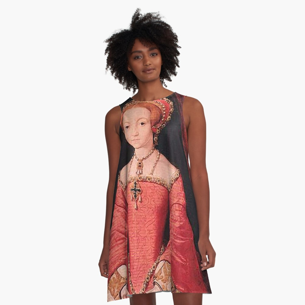 Elizabeth I Princess Portrait A-Line Dress