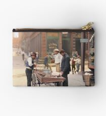Clam seller on Mulberry Bend, New York, ca 1900 Studio Pouch