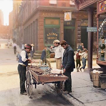 Clam seller on Mulberry Bend, New York, ca 1900 by SannaDullaway