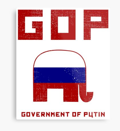 GOP Government of Putin Metal Print