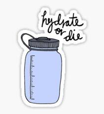 Pegatina Hidratar o morir