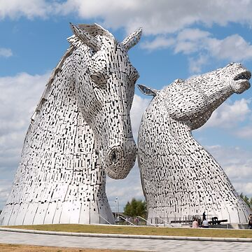 The Kelpies, Helix Park , Scotland by goldyart