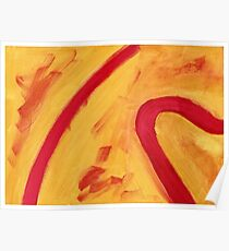 Red and Yellow. Original Acrylic Painting Abstract Art Print Fine Art Print from Acrylic Painting Contemporary  Art Print Original Abstract Acrylic Painting Poster