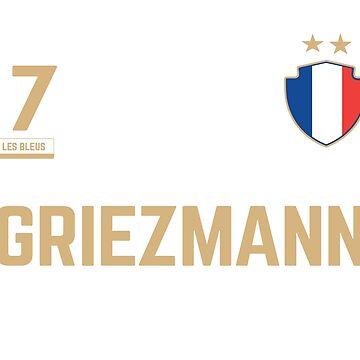 Antoine Griezmann 7 • World Cup Shirt ID G-2 by UNIQ-Apparel
