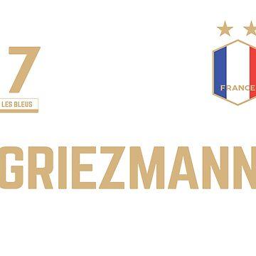 Antoine Griezmann 7 • World Cup Shirt ID G-1 by UNIQ-Apparel