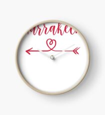 Marrakech Love Heart Handwriting Style Clock