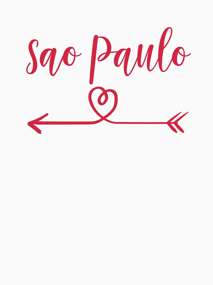 Sao Paulo Love Heart Handwriting Style by TrevelyanPrints