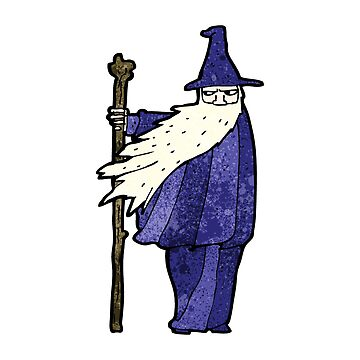 cartoon wizard by octoberarts