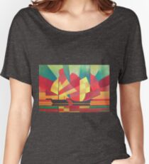 Cubist Abstract of Junk Sails and Ocean Skies Women's Relaxed Fit T-Shirt
