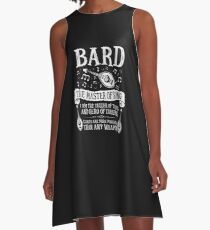 BARD, THE MASTER OF SONG - Dungeons & Dragons (White) A-Line Dress