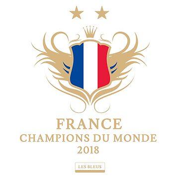 France Champion Du Monde 2018 • Les Bleus • Football World Cup Champion 2018 ID 9-1 by UNIQ-Apparel