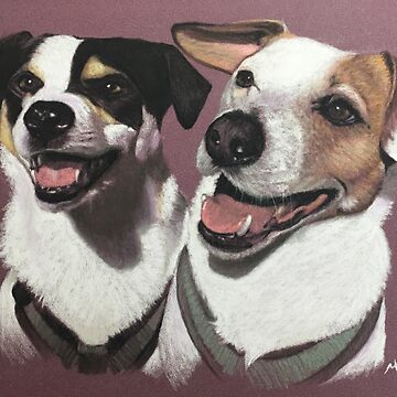 Tyson & Charlie the loveable JRTs by micheleashby