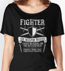 FIGHTER, THE WEAPON MASTER - Dungeons & Dragons (Black) Women's Relaxed Fit T-Shirt