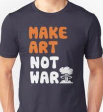 Mach Kunst, nicht Krieg Slim Fit T-Shirt