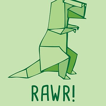 Rawr - Dinosaur for I Love You - T-rex - Origami by yayandrea