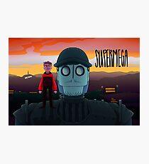 SuperMega x Iron Giant Poster Photographic Print